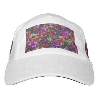 Leistungs-Hut-abstraktes beflecktes mit Blumenglas Headsweats Kappe