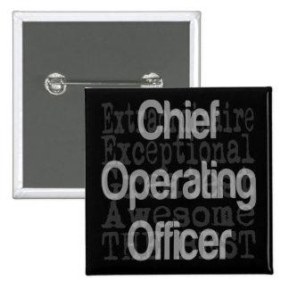 Leitender Geschäftsführer Extraordinaire Quadratischer Button 5,1 Cm