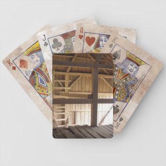 Leiter-Dachboden u. Dachsparren-alte Bicycle Spielkarten