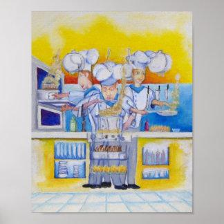 Leiter in der Küche Poster