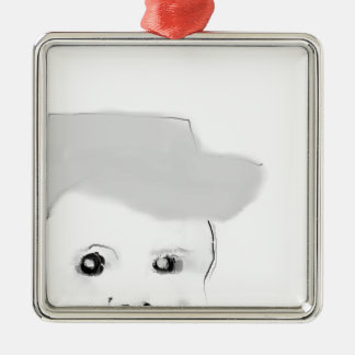 Leiter Quadratisches Silberfarbenes Ornament