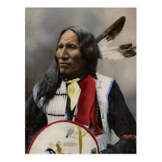 Leiter-Streiks mit Nase, Oglala Sioux 1899 Postkarte
