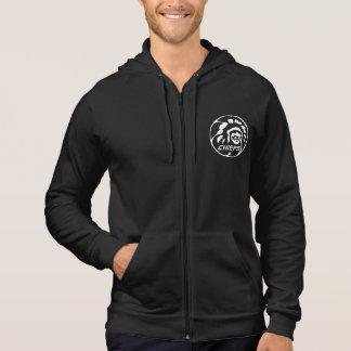 Leiterdunkles Hoodie-Weiß-Logo Hoodie
