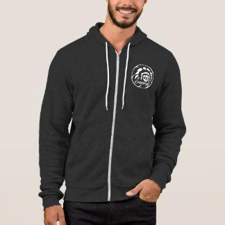 Leitergraues Hoodie-Weiß-Logo Hoodie