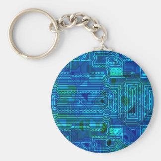 Leiterplatte-Blau Schlüsselanhänger