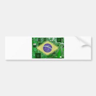 Leiterplatte Brasilien Autoaufkleber
