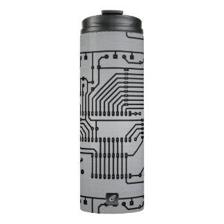 Leiterplatte-metallische mit Monogramm Trommel Thermosbecher