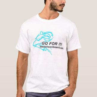 Lektionen an Bord des neuen Abziehbild-Logos T-Shirt