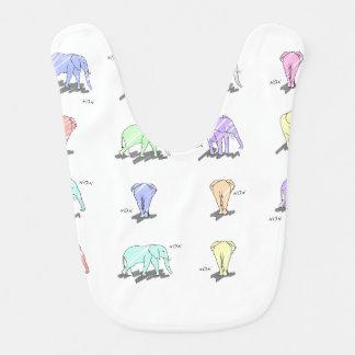L'éléphant Druck-Pastell-Schellfisch Lätzchen