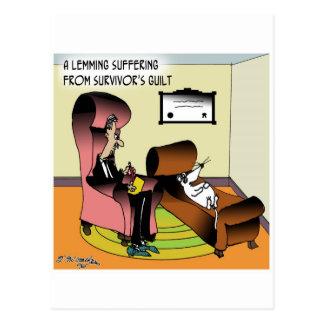 Lemming-Überlebend-Schuld Postkarte