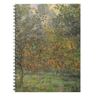 Lemon Grove in Bordighera durch Claude Monet Spiral Notizblock