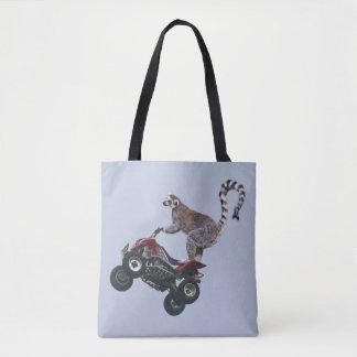 Lemur ganz über Druck-Tasche springen Tasche