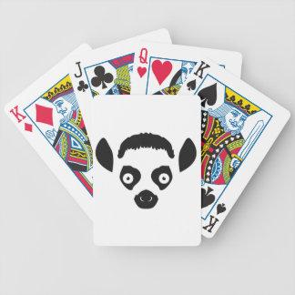 Lemur-Gesichts-Silhouette Bicycle Spielkarten