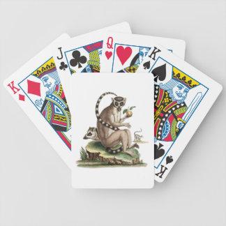 Lemur-Grafik Bicycle Spielkarten