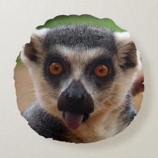 Lemur Rundes Kissen