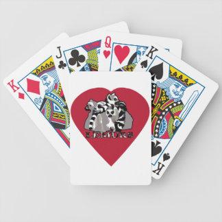 Lemur-Tasse Bicycle Spielkarten