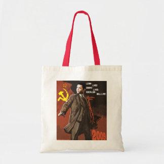 Lenin lebte Obama-Leben Budget Stoffbeutel