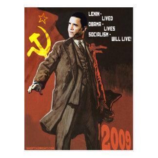Lenin lebte Obama-Leben Postkarte