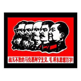Lenin Marx Mao Zedong Postkarte