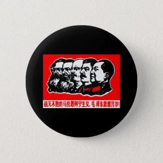 Lenin Marx Mao Zedong Runder Button 5,7 Cm
