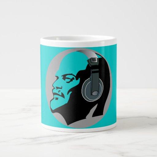 LENIN MIT KOPFHÖRER riesiger Tasse (blau) Extragroße Tassen