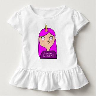 Lenkradkleid bin ich ein Einhorn Kleinkind T-shirt