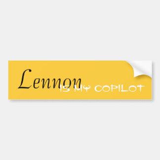 Lennon ist mein Kopilot Autoaufkleber