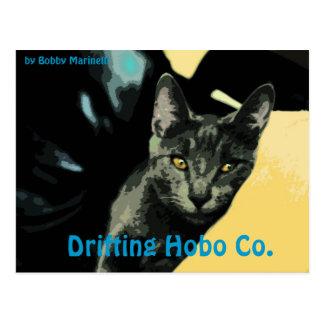 Lennon Katzen-Postkartetreibender Hobo Co. Postkarte
