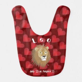 Leo July 23 to August 22 Baby Bib Babylätzchen