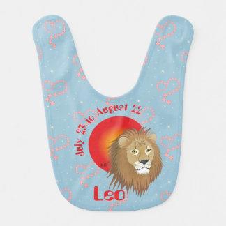 Leo July 23 to August 22 Baby Bib Lätzchen