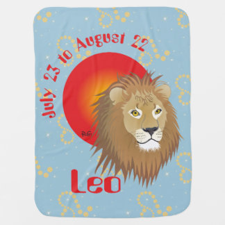 Leo July 23 to August 22 Baby Blanket Kinderwagendecke