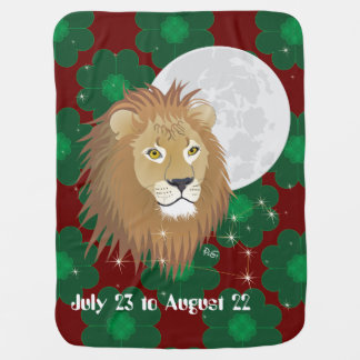 Leo July 23 to August 22 Baby Blanket Puckdecke