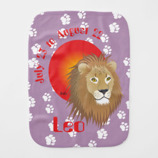 Leo July 23 to August 22 Burp Cloth Baby Spucktuch