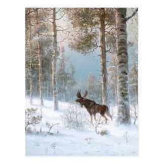 Leodinovich: Elche im Wald Postkarte