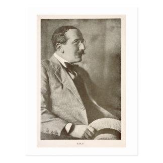 Leon Bakst (1866-1924), russischer Maler, Porträt Postkarte