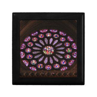 Leon-Kathedralenfenster, EL Camino, Spanien Schmuckschachtel