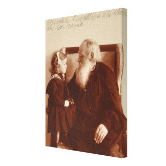 Leon Tolstoy mit seiner Enkelin, Tatjana Gespannte Galeriedrucke