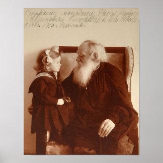 Leon Tolstoy mit seiner Enkelin, Tatjana Poster