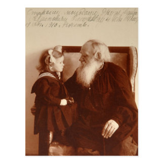 Leon Tolstoy mit seiner Enkelin, Tatjana Postkarte