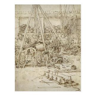 LEONARDO DA Vinci- ein Artillerie-Park Postkarte