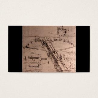 Leonardo da Vinci, Entwurf für einen enormen Visitenkarte