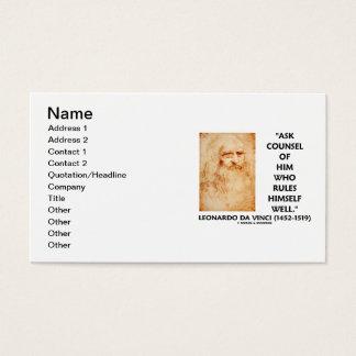 Leonardo da Vinci fragen Berater, der sich Visitenkarte