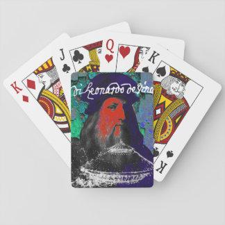 Leonardo da Vinci-Genie-Medien-Collage Spielkarten