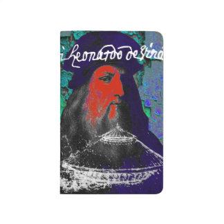 Leonardo da Vinci-Genie-Medien-Collage Taschennotizbuch