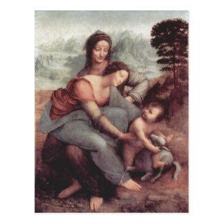 Leonardo da Vinci-hl. Anna Selbdritt, Szene: Hl. A Postkarte