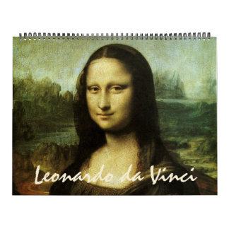 Leonardo da Vinci-Kunst-Malereien und Skizzen Kalender