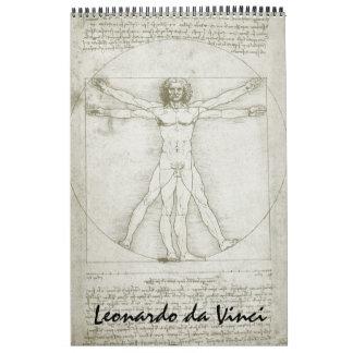 Leonardo da Vinci-Kunst-Skizzen und Zeichnungen Wandkalender