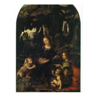 Leonardo da Vinci Madonna im der Felsengrotte, Sze Postkarte