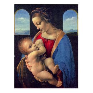 Leonardo da Vinci - Madonna Postkarte