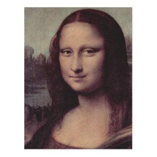 Leonardo da Vinci Mona Lisa (La Giaconda), Detail: Postkarte